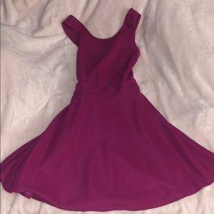 Forever 21 plum colored skater dress